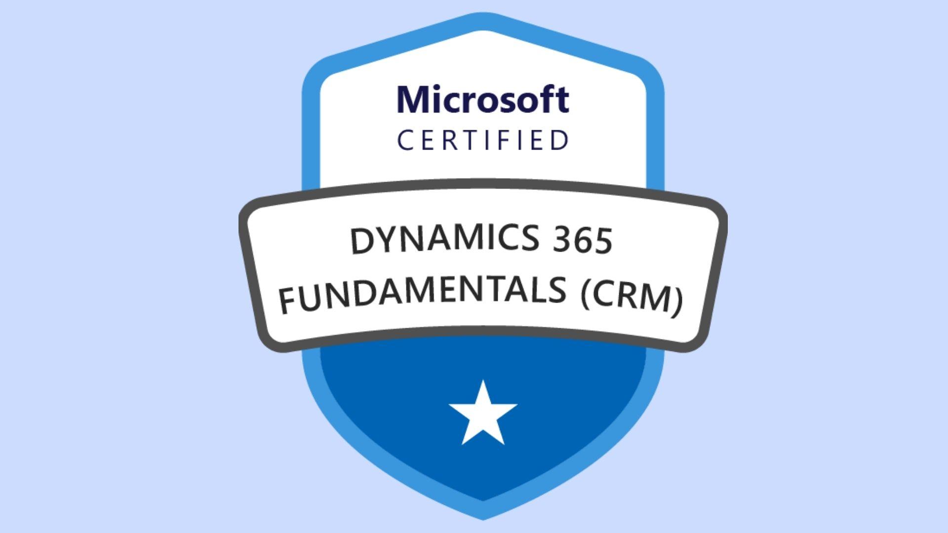 Microsoft Dynamics 365 Fundamentals CRM