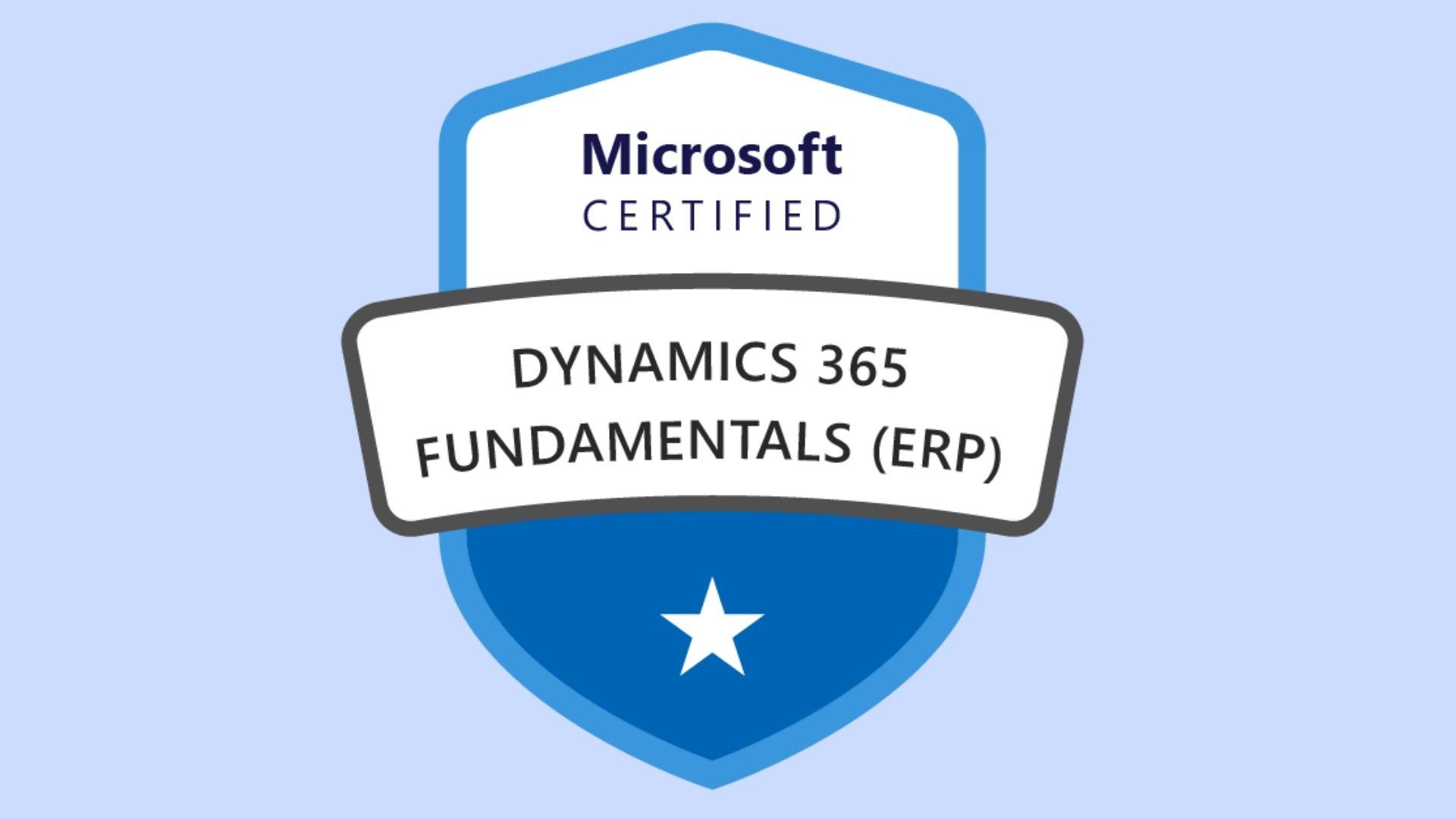 Microsoft Dynamics 365 Fundamentals ERP